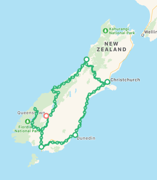 New Zealand-Route